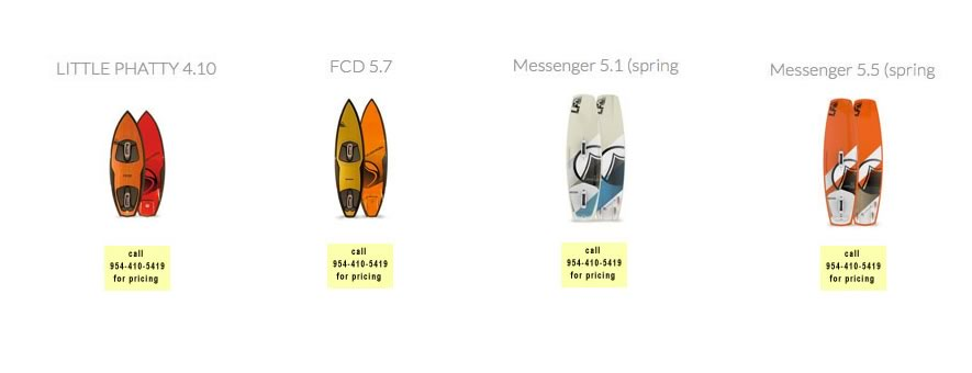kite boards for sale by Fort Lauderdale Kitesurfing Company South Florida