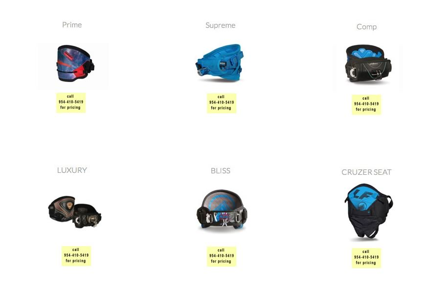 kitesurfing harnesses for sale by Fort Lauderdale Kitesurfing Company